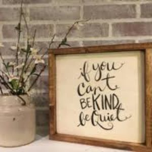Other - If you can't say something nice, then.........